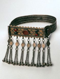 Turkmenistan/Northern Iran   Head ornament;  silver, gold, carnelian and glass   1840 - 1940   ©Asian Art Museum, San Francisco