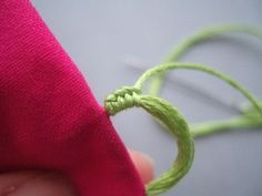 Sewn Button Loops — Ysolda I remember watching my Mom make these when I was little. It was fascinating to me.