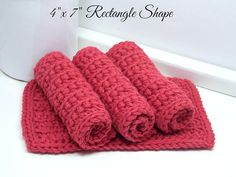Crochet Dishcloths Reusable Cotton Dishcloths Hand Crochet