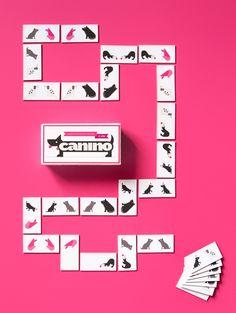Custom Made Dog Domino Board Game - designed by Eurydyka Kata & Rafał Szczawiński