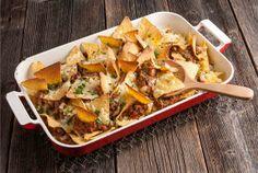 Jauheliha-nachos Nachos, My Cookbook, Tex Mex, Potato Salad, Tapas, Food And Drink, Healthy Recipes, Healthy Food, Pasta