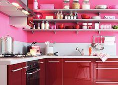 cuisine rose et rouge