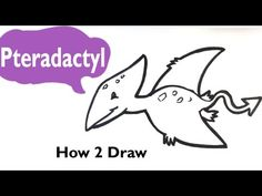 How to Draw a Dinosaur(Cute) - Pterodactyl - Easy Pictures to Draw - YouTube