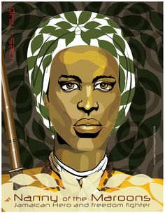 Queen MotherNanny, the great 18th century leader of the Windward or Eastern Jamaican Maroons.