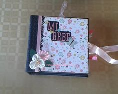 Mini álbum de scrapbooking Baby Girl con caja