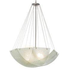 Opacus 5-Light Bubble Glass Chandelier | 36w x 49h | Satin nickel finish with bubble glass | 5: 100 watt bulbs | $1000