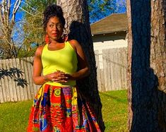 Flared Bottom Ankara Maxi Skirt | Etsy