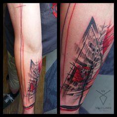 #wildlinestattoo #arttattoo #abstract #abstracttattoo #dododeer #dodac #dodactattoo #colortattoo #color #blacktattoo #tattoo #originaltattoos #original #art #tattrx #equilattera #cheyennetattooequipment #inked #ink #tattooboy#czechtattoo #pilsen #divadlopodlampou#freehand #freehandtattoo #folowtattoo Boy Tattoos, Line Tattoos, S Tattoo, Color Tattoo, Black Tattoos, D Line, Free Hand Tattoo, Tattoo Equipment, Original Tattoos