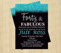 Birthday invitations for women, Birthday invitation printable, 40th birthday invitation, printable invitation templates, Party Invitations by ArtPartyInvitation on Etsy https://www.etsy.com/listing/258206598/birthday-invitations-for-women-birthday