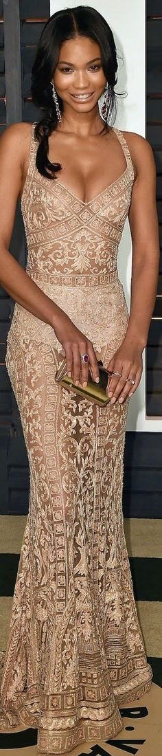 Chanel Iman in Zuhair Murad Couture women fashion outfit clothing stylish apparel @roressclothes closet ideas