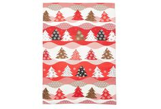One Kings Lane - A Casual Christmas - Holiday Trees Tea Towel