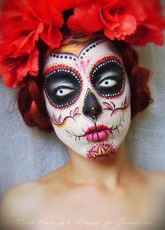 Sugar Skull Halloween Makeup - minkerica - Beauty Community Halloween Makeup #halloween #makeup