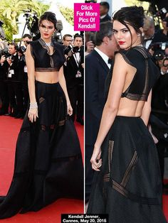 Kendall Jenner Exposes Bare Butt At Cannes in Azzedin Alaia RTW 2015