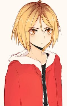 HQ!! Nekoma - Kozume Kenma | the art style reminds me of kobayashi from trickster and my heart just breaks I love him so much