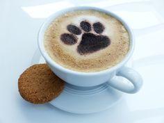 Kaffee Cappuccino Schablone: Hunde / Katzen Pfote - Tierisch-tolle-Geschenke
