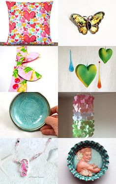A Burst of Spring by Francie on Etsy--Pinned+with+TreasuryPin.com
