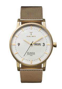 IVORY KLINGA GOLD MESH #triwa