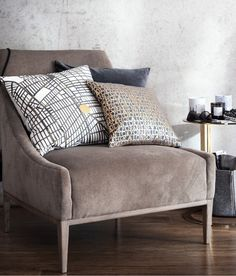 Patterned Cushion Cover | Gray/cities | Home | H&M US