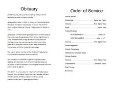 The Order Of Service Is Very Important In A Funeral Program It