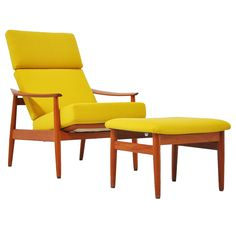 Arne Vodder Cado Lounge Chair and Foot Stool 1962