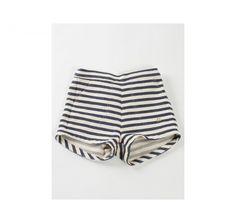 Bobo Choses High waisted striped shorts