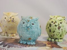 Mystery Owl one of these three figurine by CreativityHappens, $23.00
