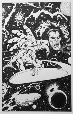 Silver Surfer Pin-Up (after John Buscema) Comic Art