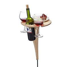 Outdoor Wine Table Grassy glades are perfect for picnicking, but definitely not ideal for keeping wine goblets and open bottles upright. Beer Table, Picnic Table, Wine Dispenser, Vintage Picnic, Personalized Wine, Wine Fridge, Kitchen Gifts, New Home Gifts