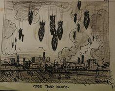 George Finey (1895-1987), God's Tear Drops, Ink on