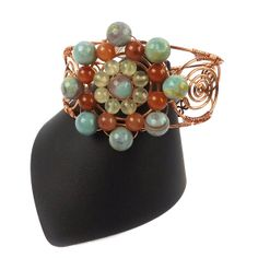 Designer Inspiration with Gemma; Floral Wire Necklace - Antique Bronze Hues | JewelleryMaker.com