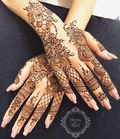 Prettiest Floral Mehendi Designs For The Trendsetter Brides Henna Flower Designs, Wedding Henna Designs, Pretty Henna Designs, Modern Henna Designs, Finger Henna Designs, Henna Tattoo Designs Simple, Arabic Henna Designs, Back Hand Mehndi Designs, Latest Bridal Mehndi Designs