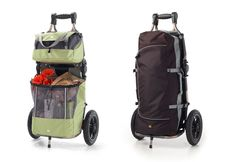 Burley Travoy trailer with Green Market Bags (grocery shop w/ease and style!)