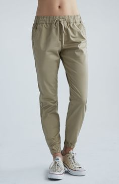 Snap Ankle Chino Jogger Pants