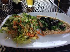Gluten free vegan pizza & Asian salad