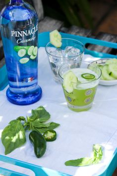 Pinnacle Vodka Cucumber Basil Refresher for World Cocktail Day