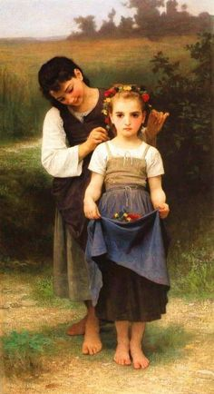 William Adolphe Bouguereau - Parure Des Champs - Canvas Complete colection of art, limited editions, prints, posters and custom framing on sale now at Prints. William Adolphe Bouguereau, Munier, Pics Art, Museum Of Fine Arts, French Artists, Illustrations, Figure Painting, Beautiful Paintings, Fine Art