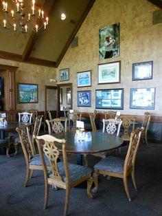 Covered Bridge Golf Club Bar Covered Bridges, Golf Clubs, Dining Table, Bar, Furniture, Design, Home Decor, Decoration Home, Covered Decks