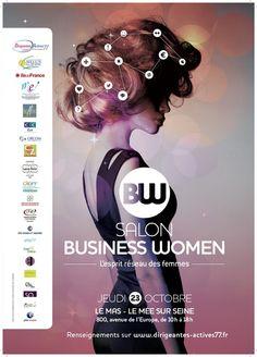affiche Salon Business Women - entrepreneur avec un e