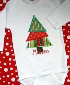 Monogrammed Applique Christmas Tree by BlumersEmbroidery, $24.00