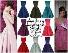 Audrey Hepburn Style Pink Dress AUDREY HEPBURN STYLE CLASSIC SWING VINTAGE 1950′S DRESS ON SALE!