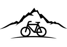 Silhouette Fahrrad Berge Bicycle Tattoo, Bike Tattoos, Cycling Quotes, Cycling Art, Cycling T Shirts, Bicycle Print, Hand Lettering Alphabet, Bike Poster, Bike Art