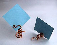 Wire card holders
