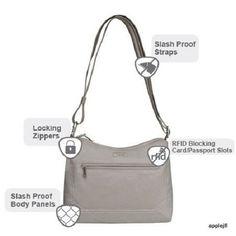 Travelon Bag Hobo Anti Theft Convertible Rfid Blocking Wallet Colors Day Travel
