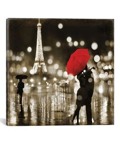 Another great find on #zulily! Kate Carrign A Paris Kiss Gallery-Wrapped Canvas #zulilyfinds