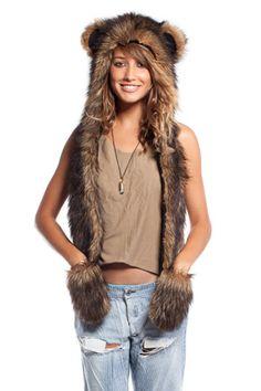 0a1b2a81f63 14 Amazing Faux Fur spirit hood apparel images