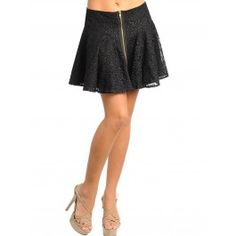 Falda Vintage Fashion Black F56 Flare Skirt, Best Sellers, Skater Skirt, Night Out, Special Occasion, Women Accessories, Vintage Fashion, Overlay, Zipper