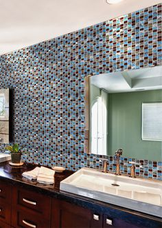 Glass Stone Tile Bathroom Wall BuilderElements STG0084 When I Was Looking