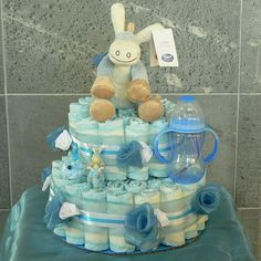 Finexto - Gâteau de couches Noukies Baby Boy Cakes, Cakes For Boys, Baby Shower Parties, Baby Shower Themes, Montage, Baby Gifts, Presents, Diy, Crafts