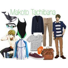 Makoto Tachibana - Free! Iwatobi Swim Club by alt-jay on Polyvore featuring Uniqlo, Abercrombie & Fitch, rag & bone, Vans, Seapro, Speedo and Aqua Sphere
