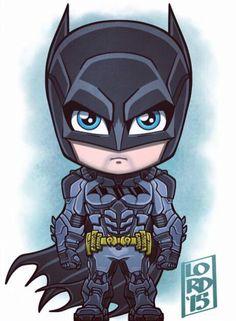 Chibi Batman by Lord Mesa Batman Chibi, Chibi Marvel, Marvel Dc Comics, Batman The Dark Knight, Batman Arkham Knight, Batman Robin, Im Batman, Logo Super Heros, Bd Cool